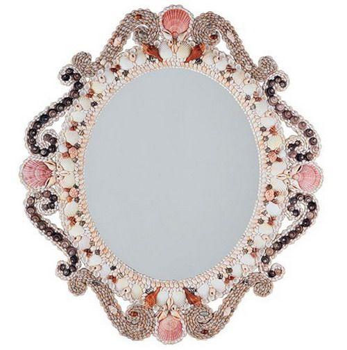 Рама для зеркала, декорированная морскими раковинами