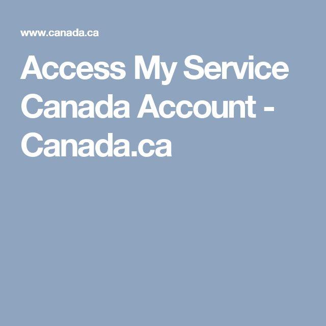 Access My Service Canada Account - Canada.ca