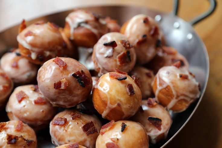 New Year's Eve Appetizers: Sweet and Savory Maple-Bacon Donut Holes