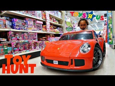 Toy Hunt At Toys R US Power Wheels - Fidget Spinners - Shopkins - Barbie - Surprise Toy Opening - YouTube