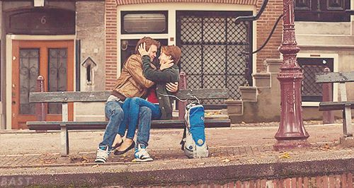 "Okay. | The Cast Of ""The Fault In The Stars"" Reunited To Recreate The Bench Kiss"