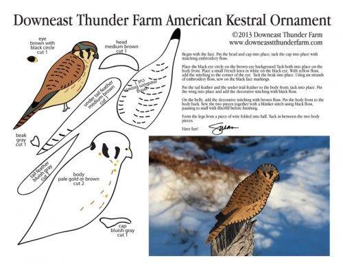 American Kestrel Pattern, Bird, Stuffed Animal Pattern,  How to Make a Toy Animal Plushie Tutorial Plushies Tutorial , BIRDS Diy Projects, Sewing Template , animals, plush, soft, plush, toy, pattern, template, sewing, diy , crafts, kawaii, cute, sew, pattern,free bird template, kestrel , handmade free pdf