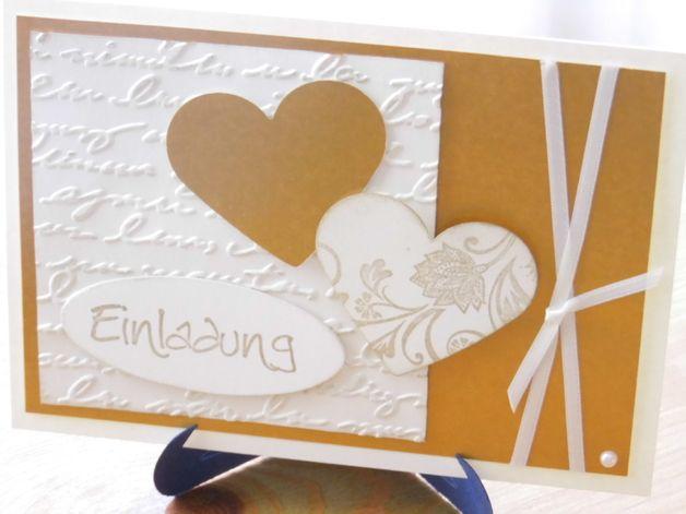 Jubiläum   Einladung Zur Goldenen Hochzeit   Ein Designerstück Von  Jknieps Kartefenster Bei DaWanda