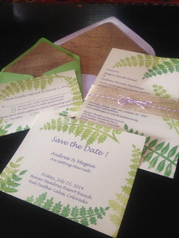 My homemade wedding invitations The 120 best