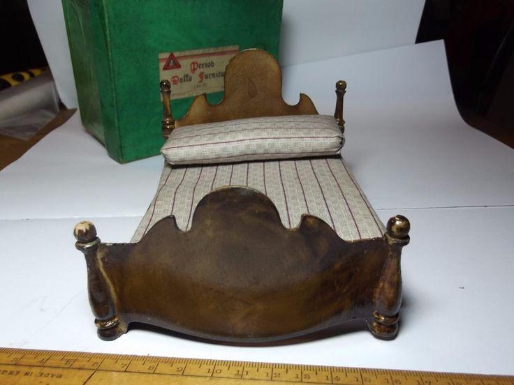 RARE PRE-WAR BOXED TRI-ANG PERIOD DOLLS FURNITURE BED ART DECO DOLLS HOUSE | eBay