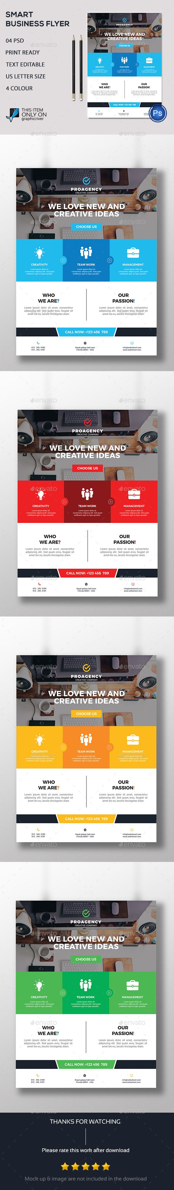 Smart Business PSD Flyer  Template • Only available here ➝ http://graphicriver.net/item/smart-business-flyer/16775288?ref=pxcr