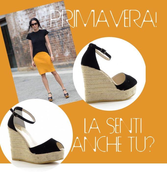 #Sandali in #camoscio con laccio alla caviglia regolabile con fibbia, #zeppa e plateau in corda, ti va di provarli? http://bit.ly/1Bez3uE #primavera #altissima #eleganza #comodità #qualità #shoppingonline