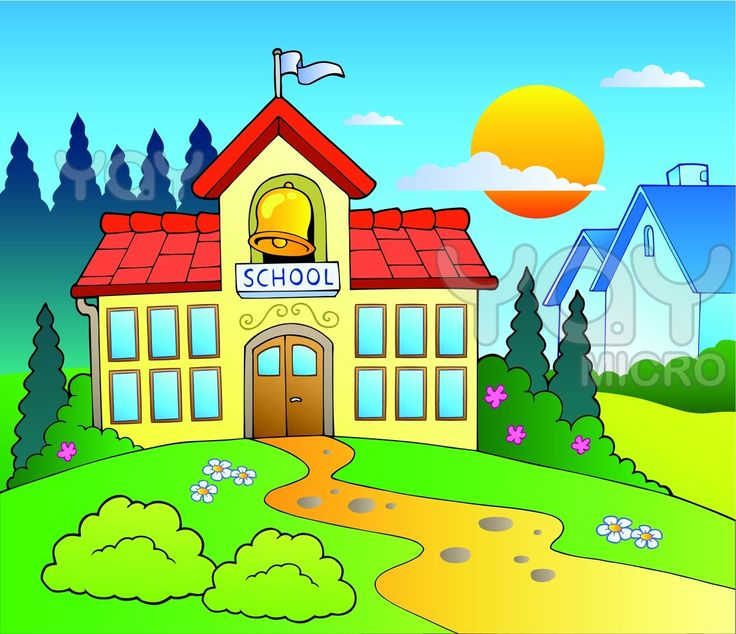 10 Mewarnai Gambar Sekolah Bonikids Coloring Page Pinterest Building Cartoon And Schools
