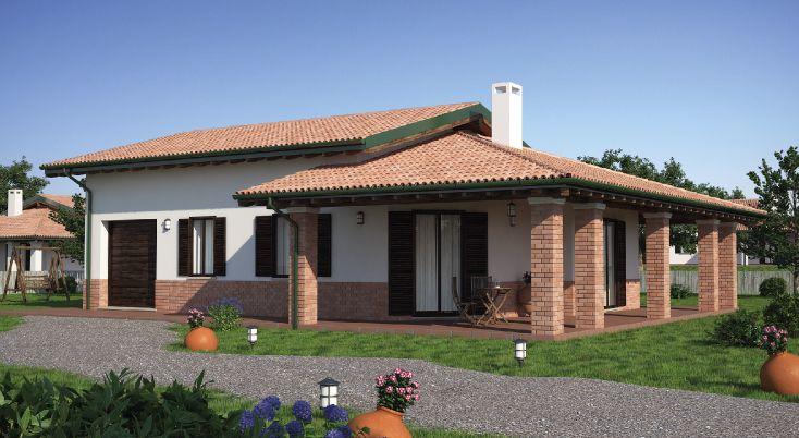 Progettazione Casa In Legno : Progetto casa in legno monopiano urb da metri quadrati
