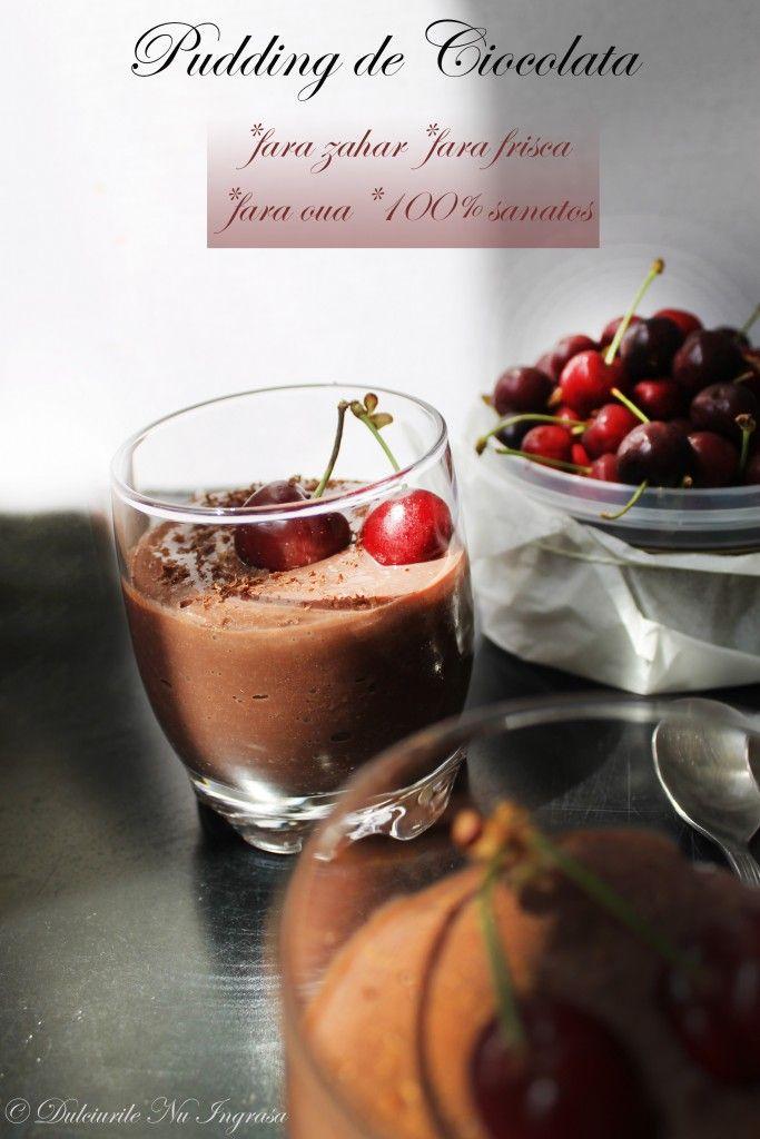Pudding de Ciocolata (fara zahar, fara frisca, fara oua, 100% sanatos)