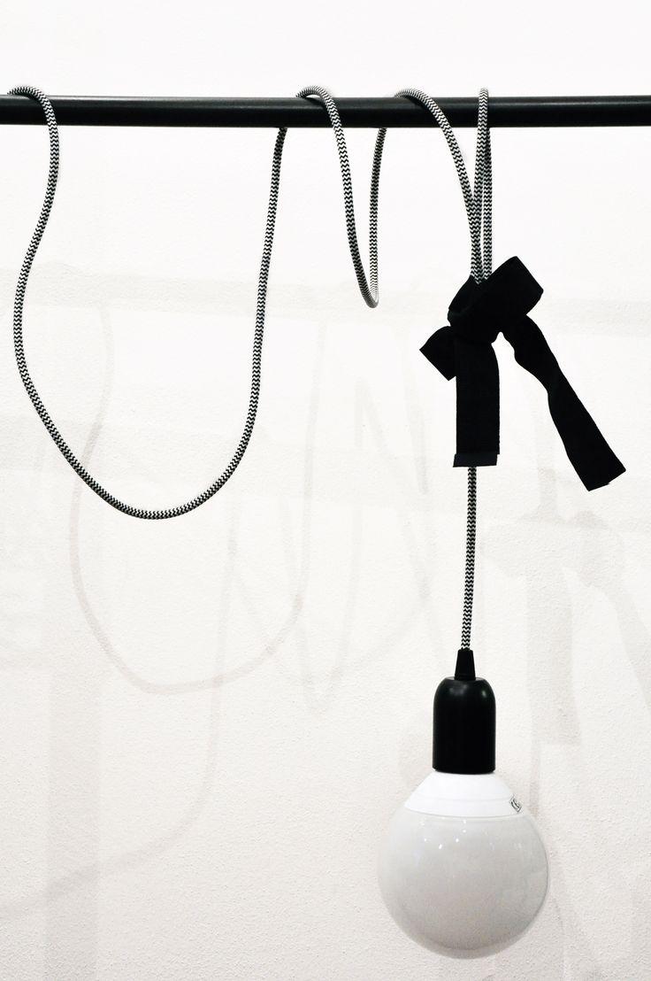 Crea la tua lampada con i cavi in tessuto colorati  IDEE PER LA TUA LUCE
