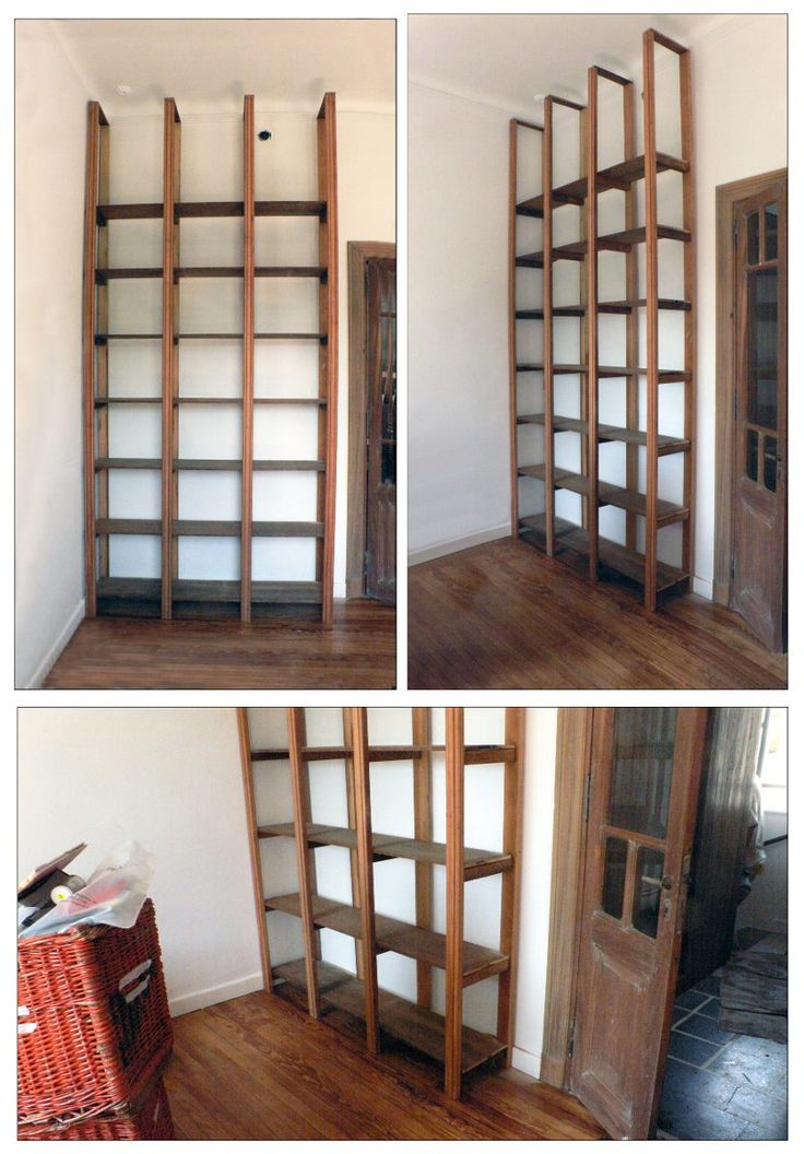 Bibliotecas estanterias a medida maderas antiguas capital federal en mercadolibre - Estanterias madera ...