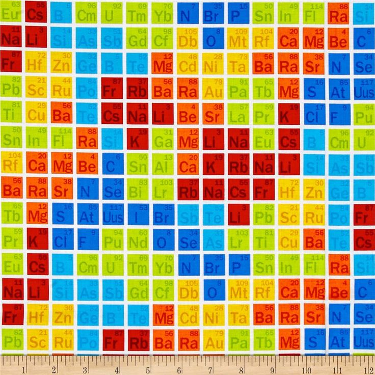 36 best fabric nerdy images on pinterest accent colors print studio e periodic table squares on a white background cotton from the studio e geek chic cotton collection urtaz Gallery