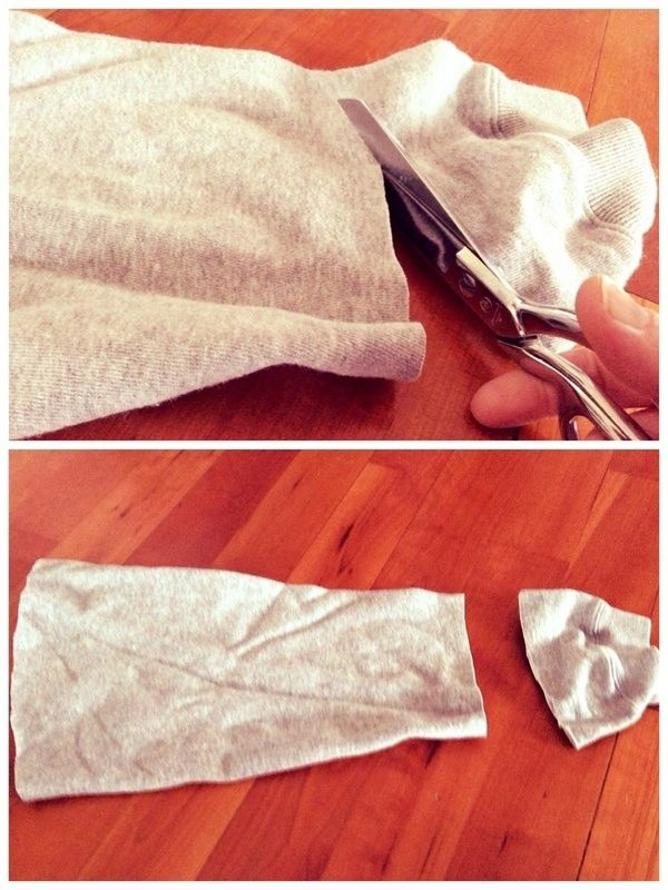 How to make a dog outfit. No Sew Five Minute Dog Sweater - Step 3