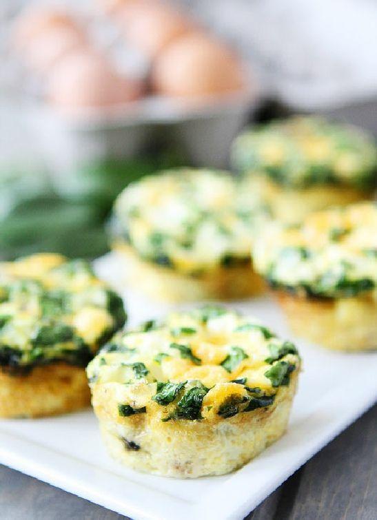 Low FODMAP & Gluten free Recipe - Mini spinach & cheese frittatas  (update) www.ibssano.com/...