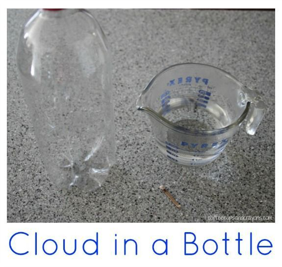 How to Make a Cloud in a Bottle! Science for kids