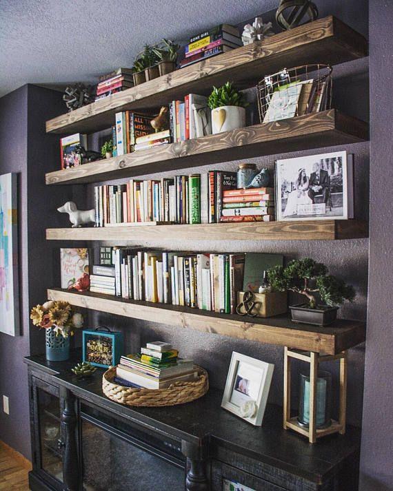 FREE SHIPPING Wood Floating Shelves Primitive Shelf