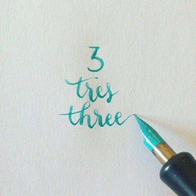 ☝️☝️☝ #readbetweentheletters #readbetweentheletters_3 #calligraphy #caligrafia #3 #tres #three #speedball #pluma #ink #speedballink #numbers #numeros #numberscalligraphy #caligrafianumeros