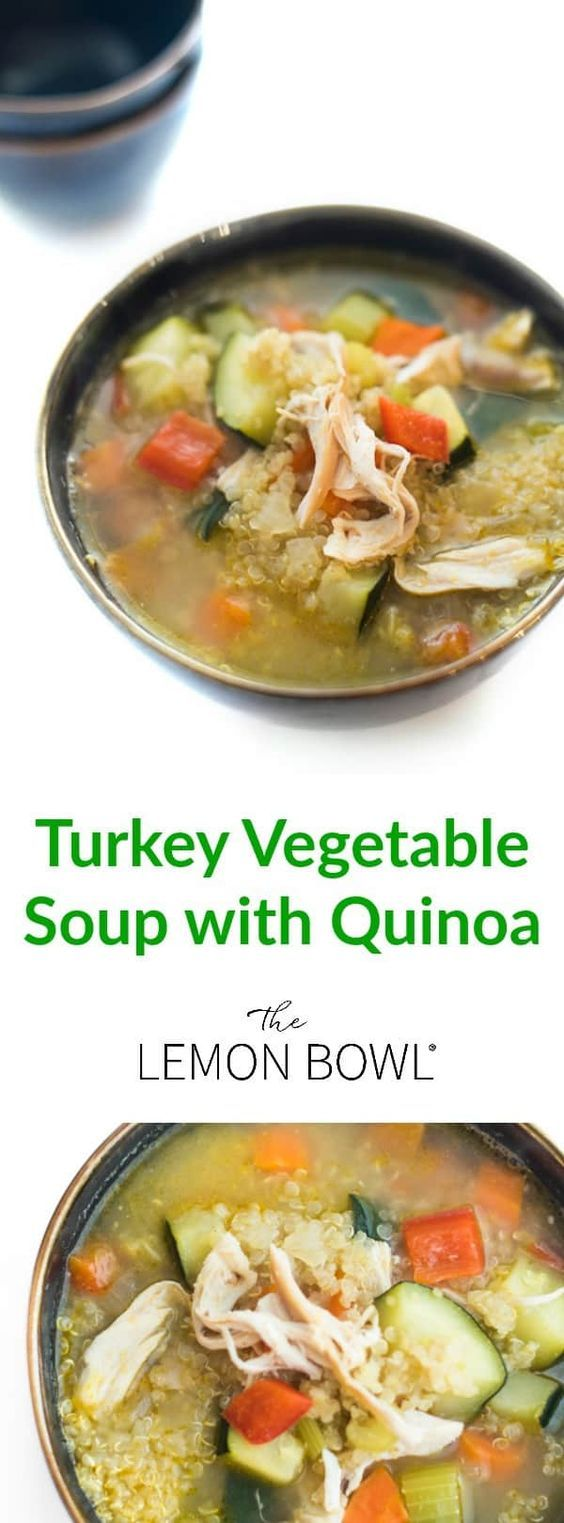 Ideal for using up leftover turkey, this soup recipe is naturally gluten free and high-protein! #turkeyrecipe  #soups #souprecipes #comfortfood