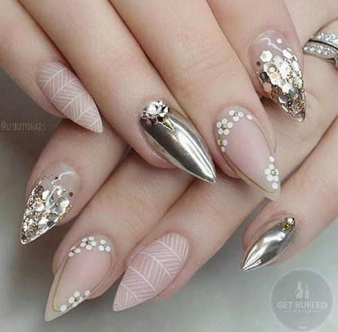 Neon Nail and Silver for Girls 2017 -