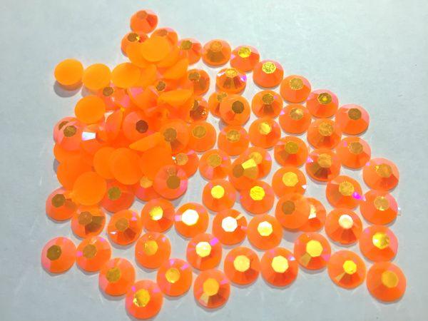 6mm Jelly Orange AB Color SS30 crystal Resin rhinestones flatback Nail Art Rhinestones,10,000pcs/bag