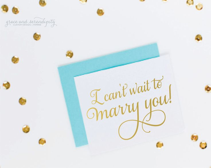 New to GraceSerendipityShop on Etsy: I Can't Wait to Marry You Card - wedding day card - husband card fiance card  boyfriend card girlfriend card wife card marriage card (4.00 USD)
