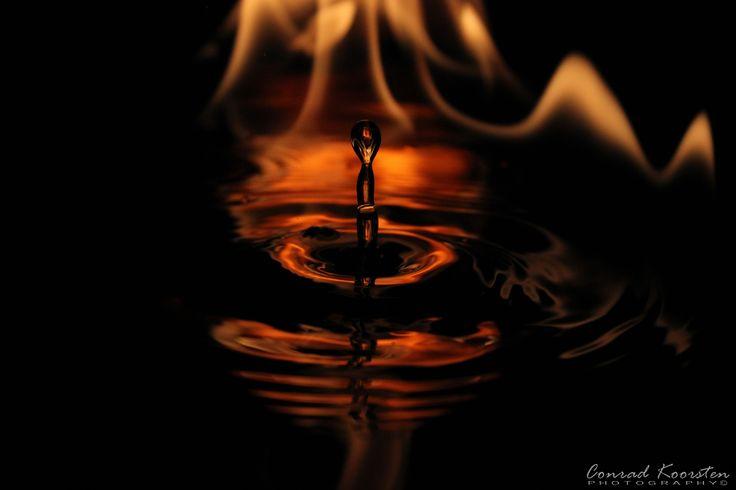 Flaming drops