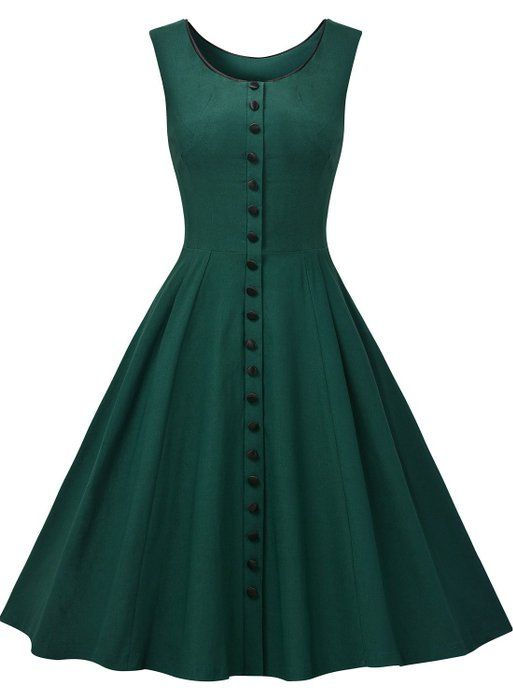 Missmay Women's Audrey Hepburn Sleeveless Retro Swing Rockabilly Evening Dress