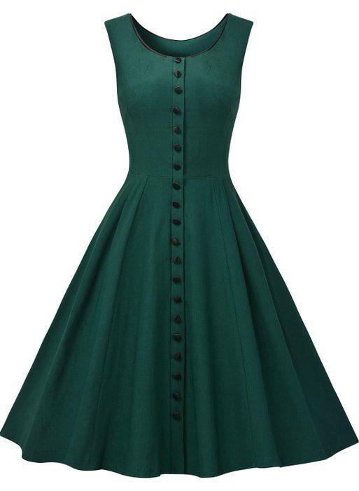 Missmay Women's Audrey Hepburn Sleeveless Retro Swing Rockabilly Evening Dress