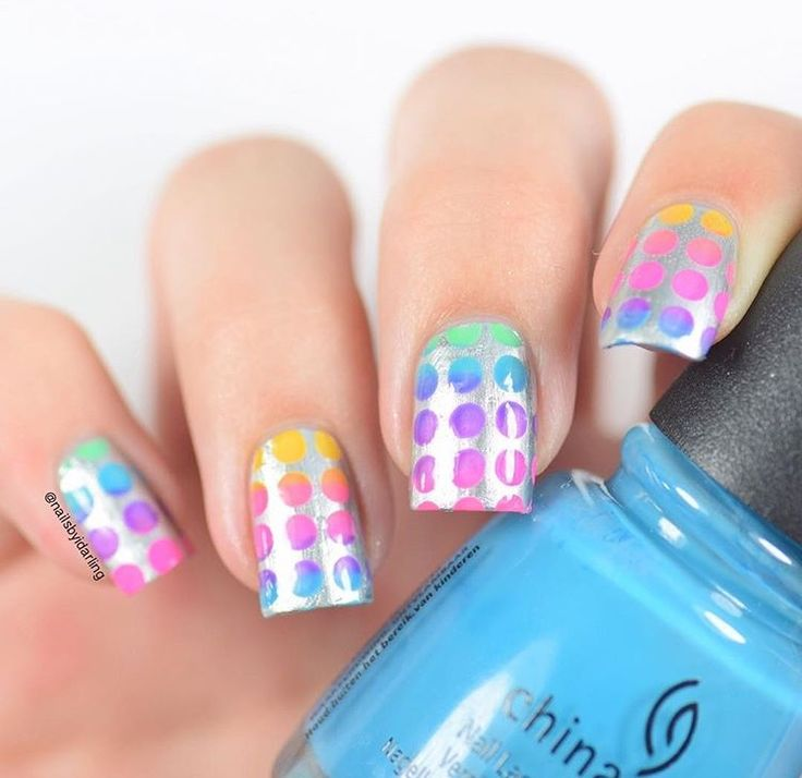 15124 best nail polishdesignscolors and diy nails images on amazing gradient manicure by nailsbyidarling using our polka dot nail stencils found at snailvinyls solutioingenieria Images