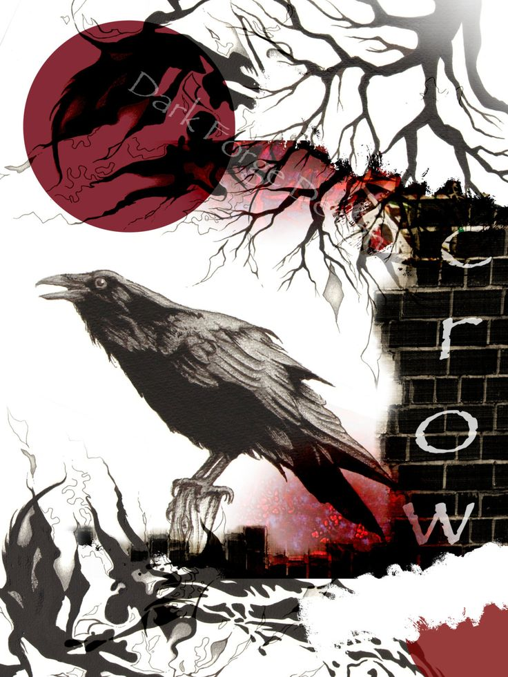 Crow Gothic Fantasy POSTER Print 12 x 16 inches by DarkForgeStudio on Etsy