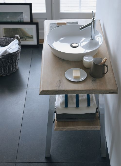 Duravit and Philippe Starck have reinvented the bathroom sink with the Cod Cape range, the collection is named quite aptly after inspiration taken from  the region in the US, known for its beaches stretching for miles, crystal clear water and untamed nature, using organic and authentic materials such as solid real wood and warm ceramics.  #duravit #starck #bathrooms #sink #vanity #unit #design #york