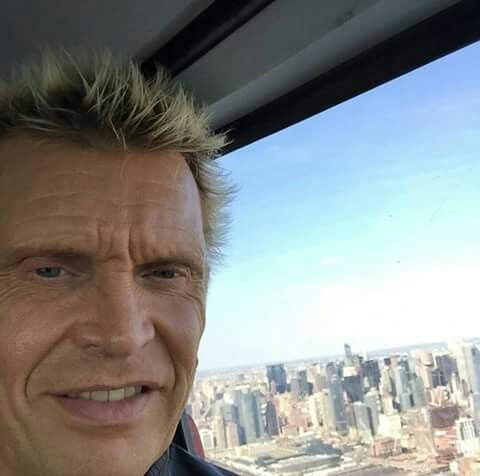 Aaah a Helicopter ride across Manhattan this pm on my way to a private show in the Hampton - BFI (Photo taken from Instagram Profile by Billy Idol) August 2016