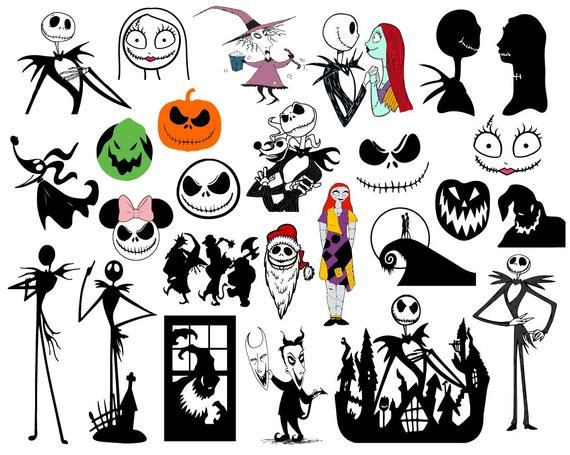 Download 37 Nightmare Before Christmas SVG Vector Clipart ...