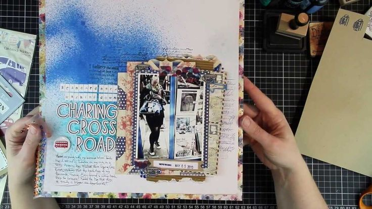 To Scraplift Oneself - Scrapbook Process Video by jenandtricks