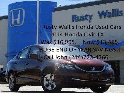 2014 Honda Civic LX at Rusty Wallis Honda Used Cars (214)723-4366