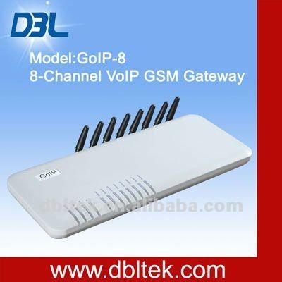 SMS sending!8-port VoIP GSM Gateway/GoIP-8/IP PBX application