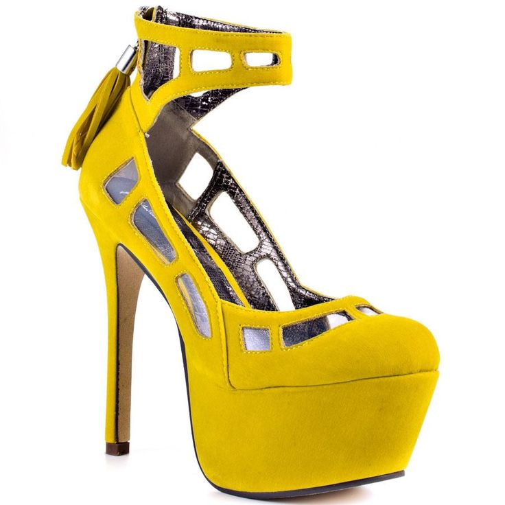 Yellow Shoes High Heels