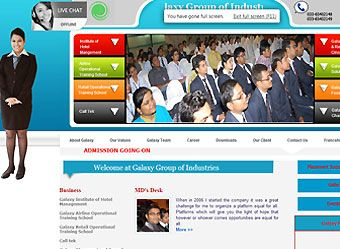 #corporate #website designed & developed for Galaxy Group of companies