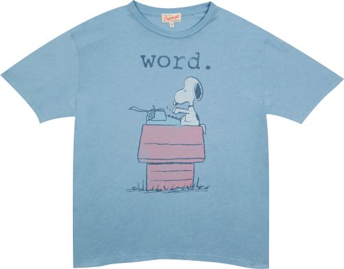 You found this Typing Snoopy T-Shirt by Junk Food on the Shirt List and it really needs a better description. Add a comment and I will get right on it.