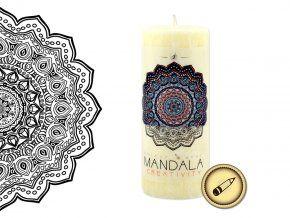 vonná vybarvovací svíčka mandala - tvořivost