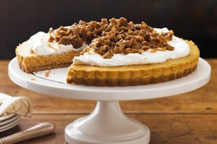 Caramel Pumpkin Mousse Tart with Pecan Crumble