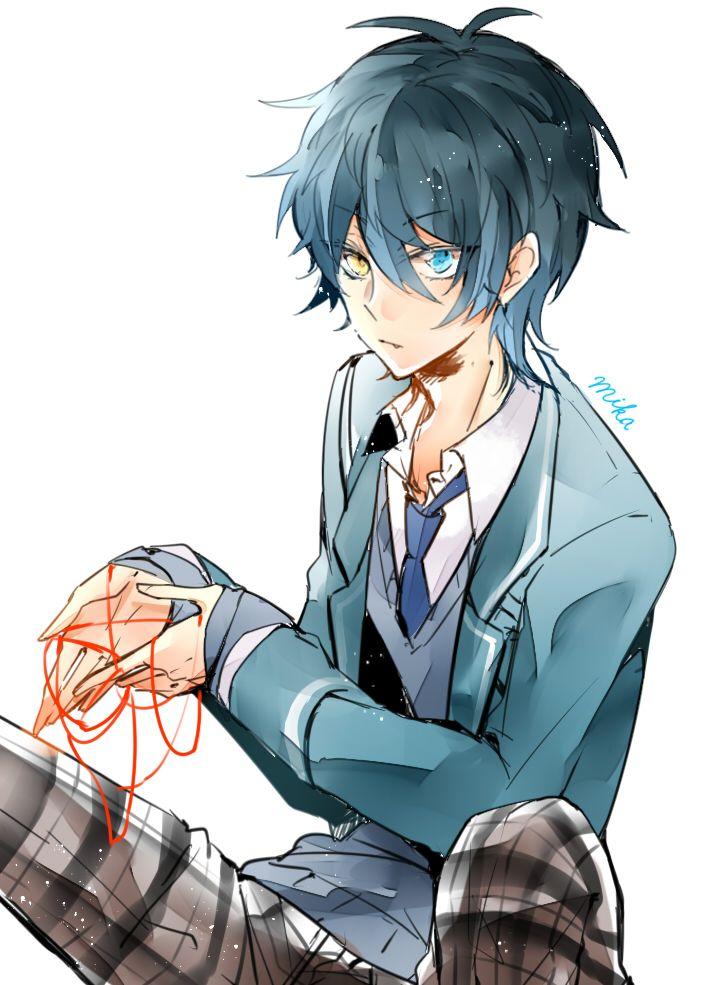 heterochromia anime eyes yellow boys better colors stars characters boy