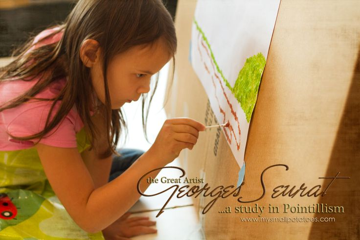 """""""Some people say they see poetry in my paintings; I see only science."""" ~Georges Seurat It's time for Kids Get Arty! My favourite series on the entire planet! For real! It's…"""
