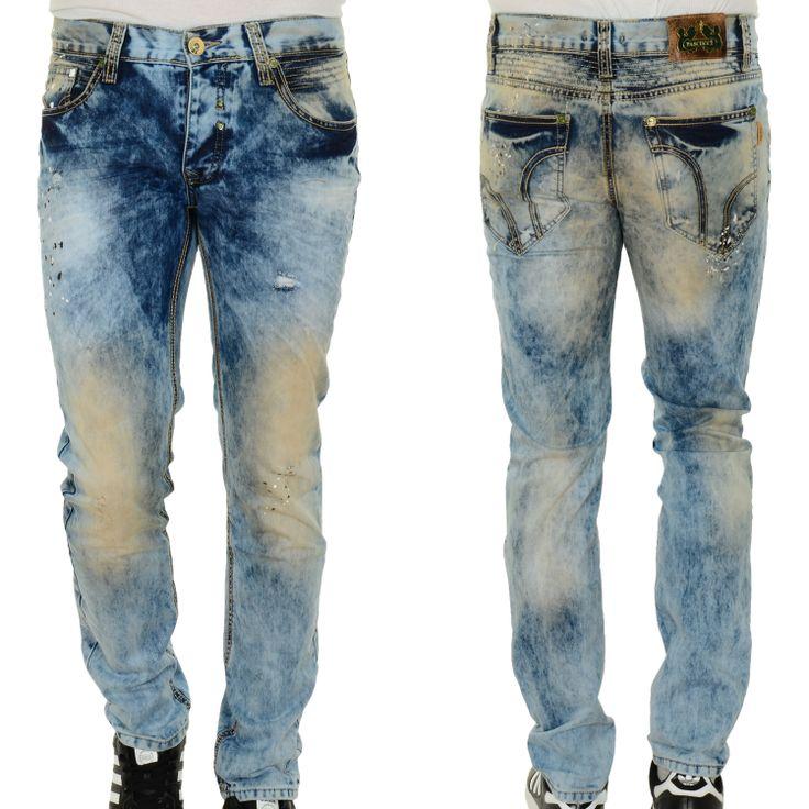 Pascucci Camel Heren Slim Fit Jeans Lichtblauw 102764 0