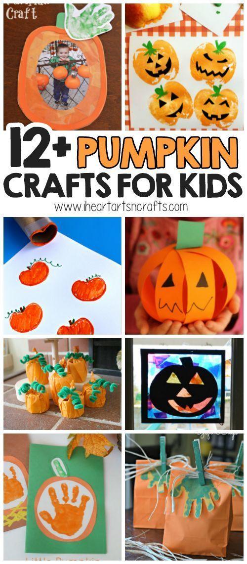 12+ Pumpkin Crafts For Kids #pumpkincraftspreschool 12+ Pumpkin Crafts For Kids …