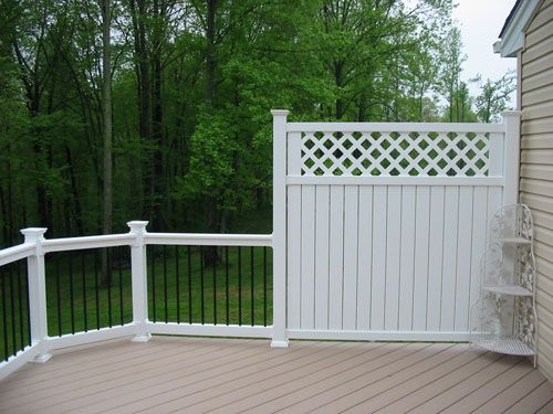 deck with privacy wall - Google Search