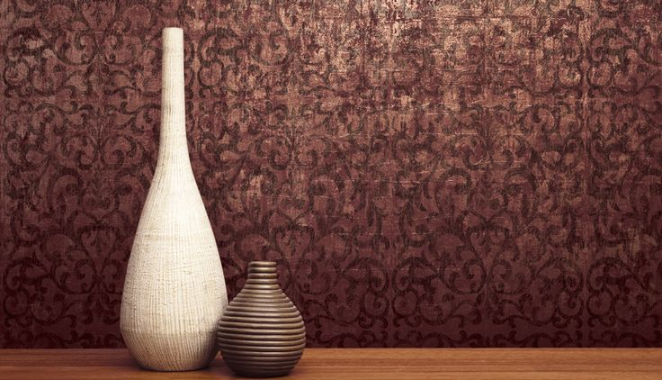 Luxe Scroll: A burnished, aged patina surface design.