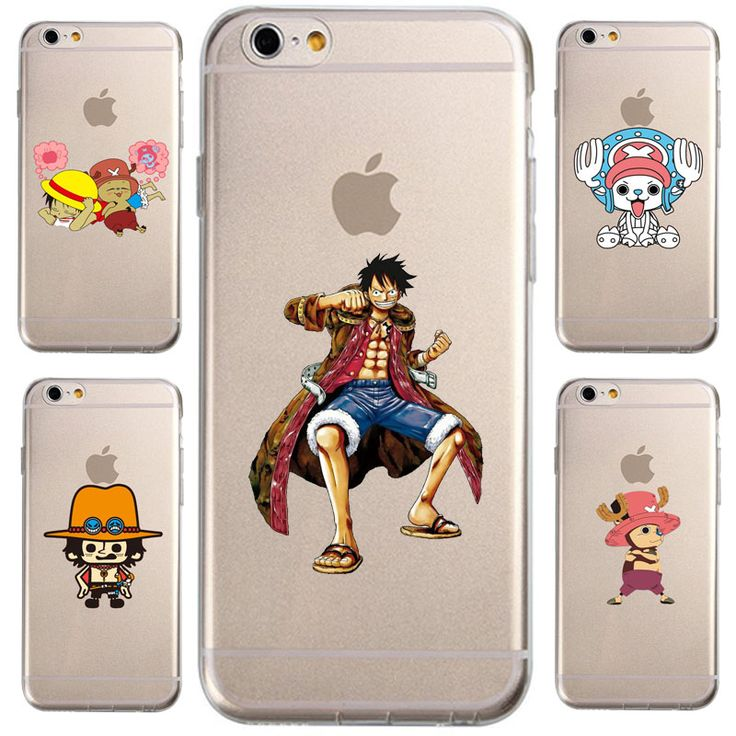 For IPhone 6 6S Plus 5 5S SE 4 4S Case Design Cartoon One Piece Movie transparent Silicone soft slim Tpu Cell Phone Cover