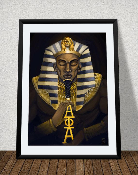 The Alpha - SIZE: 18 x 24,  by Lindsey S. Jordan Jr. pays homage to the oldest Greek-letter fraternities founded by African Americans, Alpha Phi